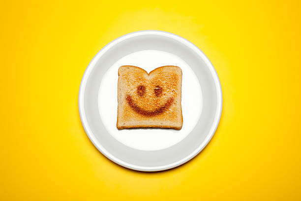 Smiley toast o une assiette - Photo