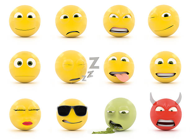 smiley faces - emoticons stock photos and pictures