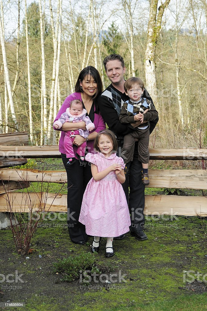 Smiley Family royalty-free stock photo