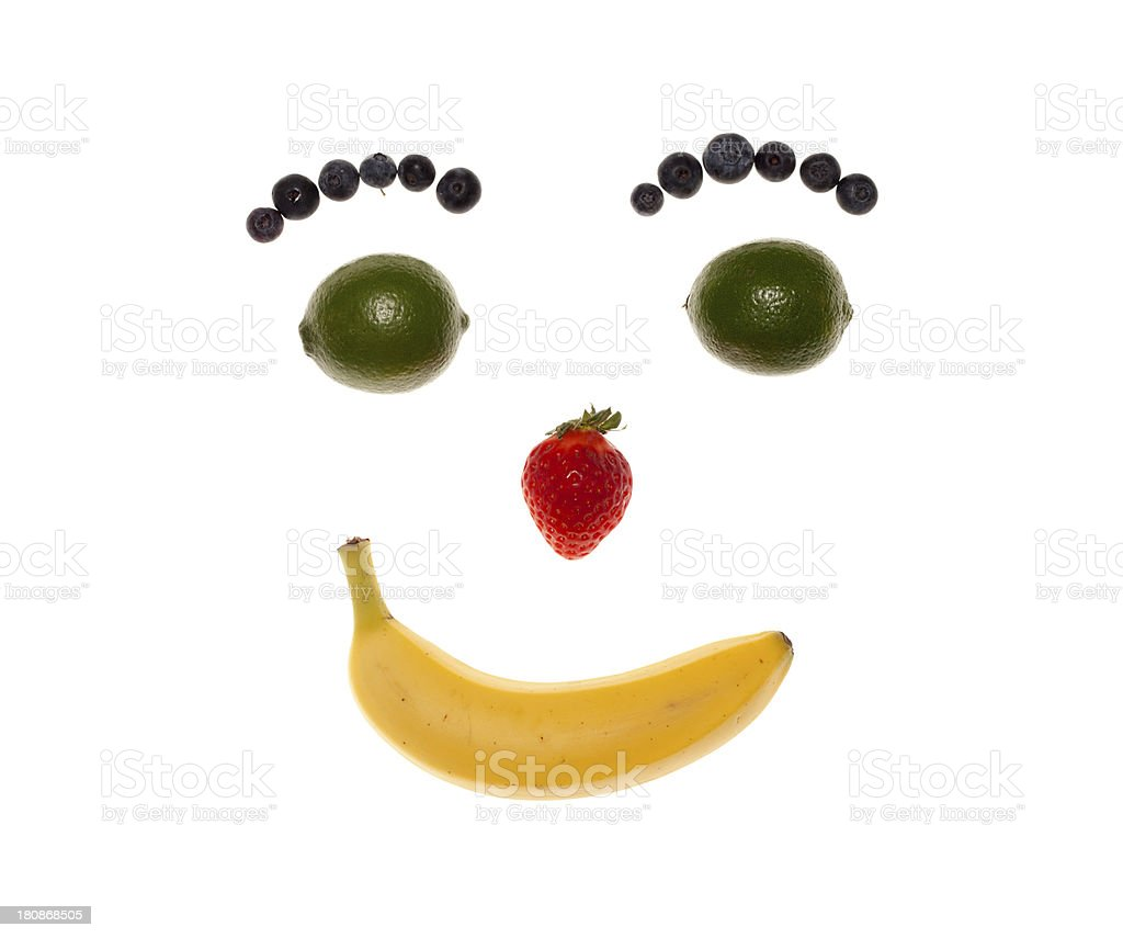 Smiley Fruit Face royalty-free stock photo