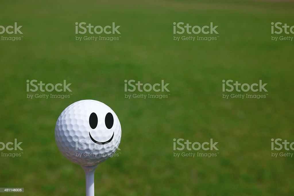 Smiley Golf stock photo