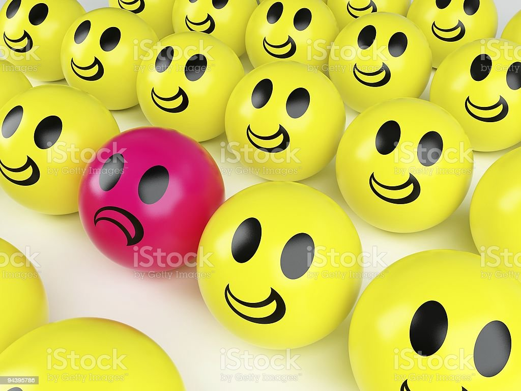 smiley icon ball in the middle royalty-free stock photo