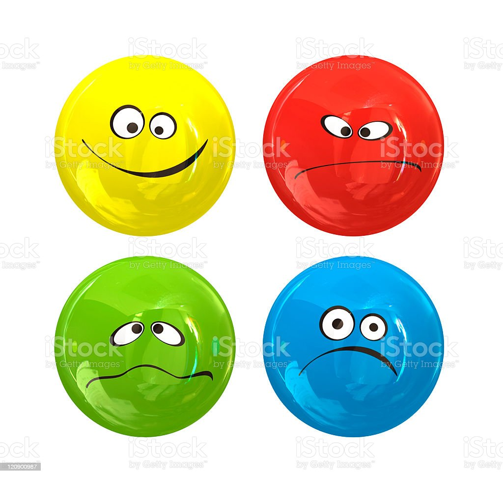 Smiley icon faces stock photo