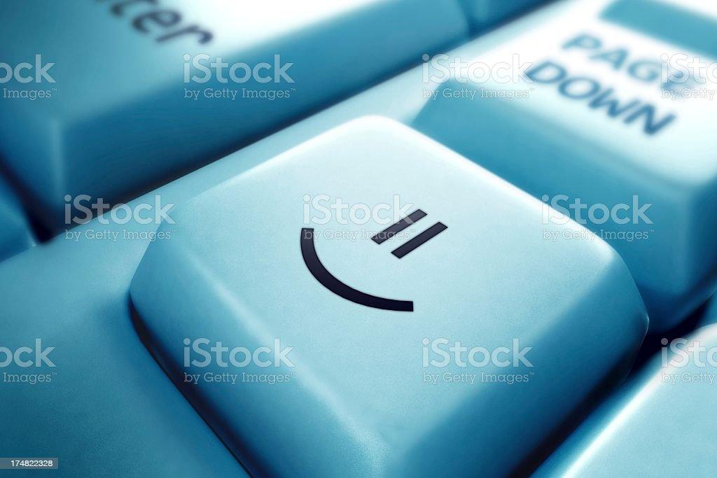 Smiley Key royalty-free stock photo