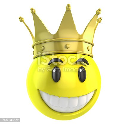 istock Smiley king 3d isolated illustration 899103672
