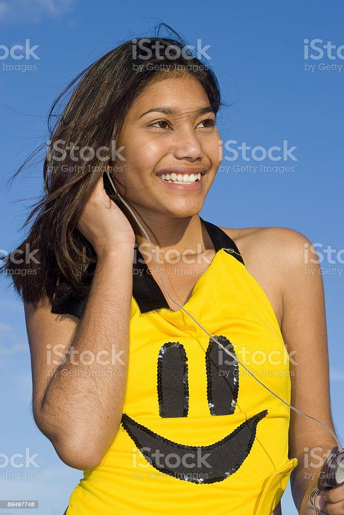 Smiley Music royalty free stockfoto