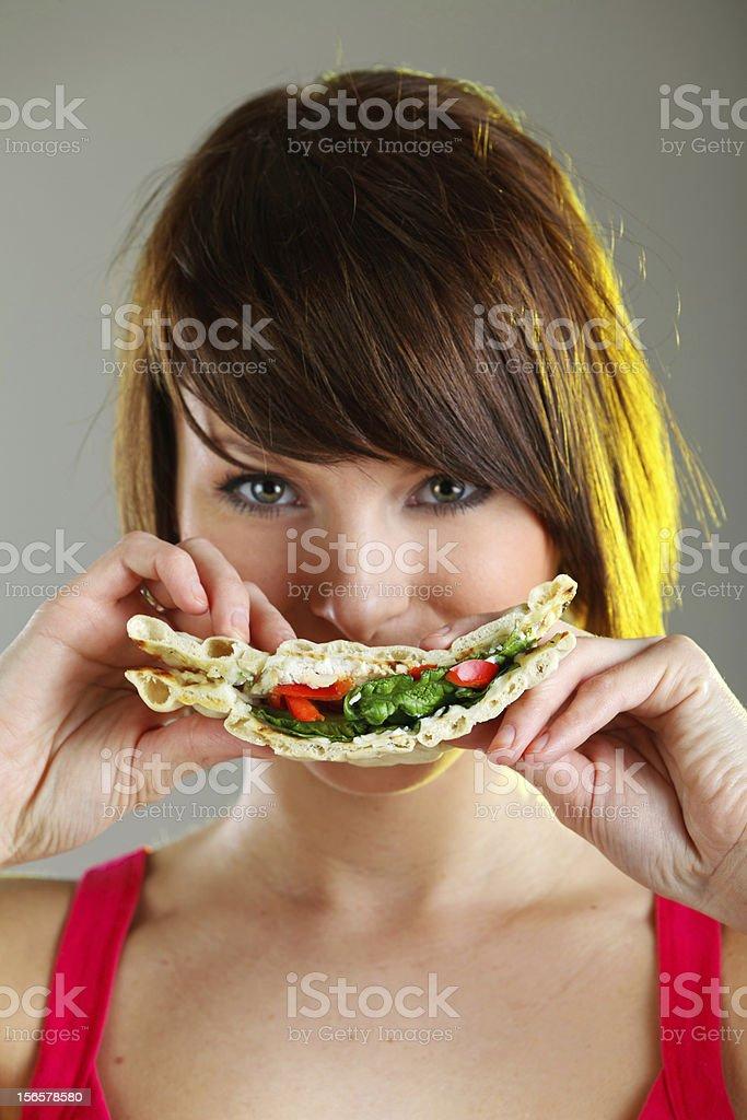 Smiley sandwich royalty-free stock photo