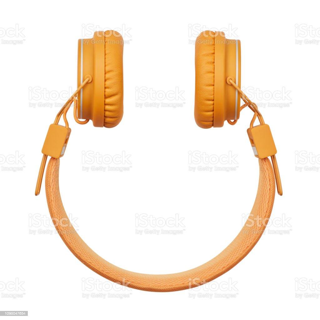 Smiley-Form-Kopfhörer - Lizenzfrei Audiogerät Stock-Foto
