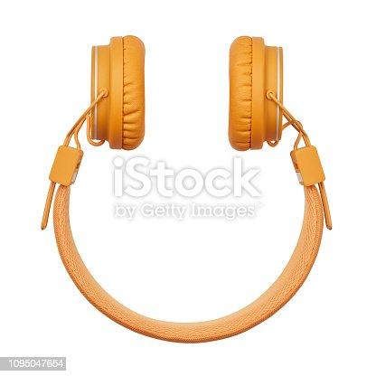 istock Smiley Shape Headphone 1095047654