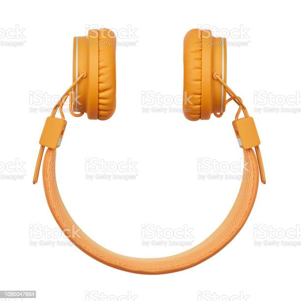 Smileyformkopfhörer Stockfoto und mehr Bilder von Audiogerät