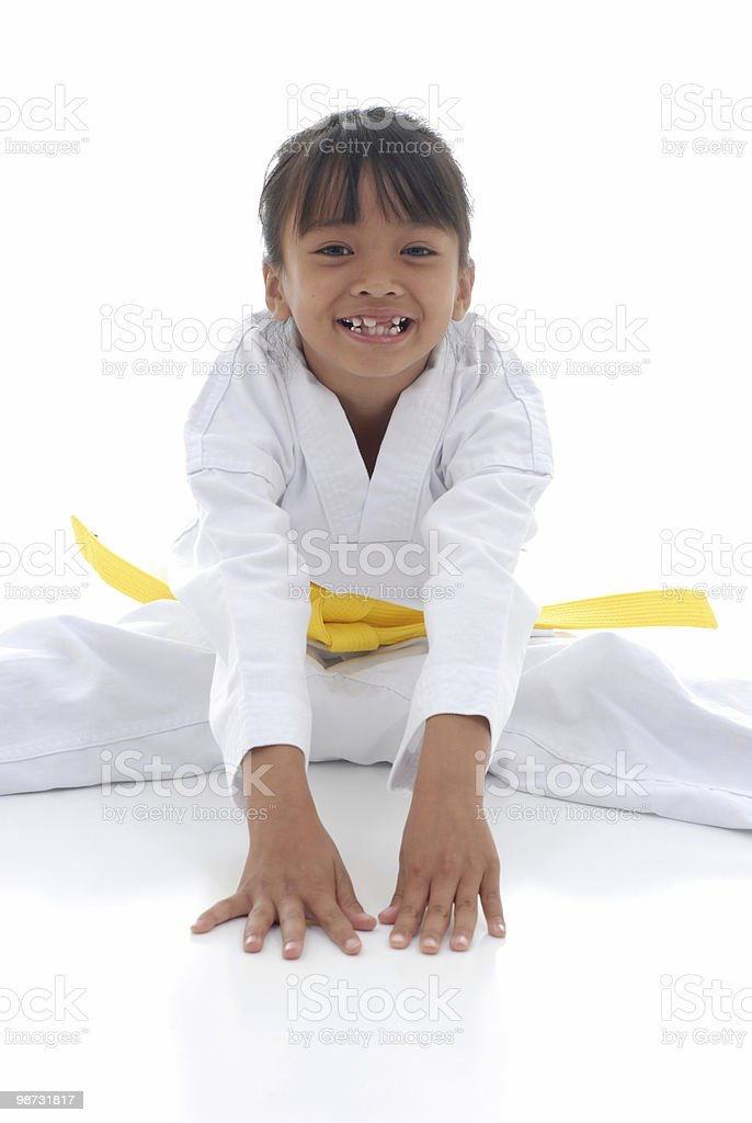 Smiley stretch royalty free stockfoto