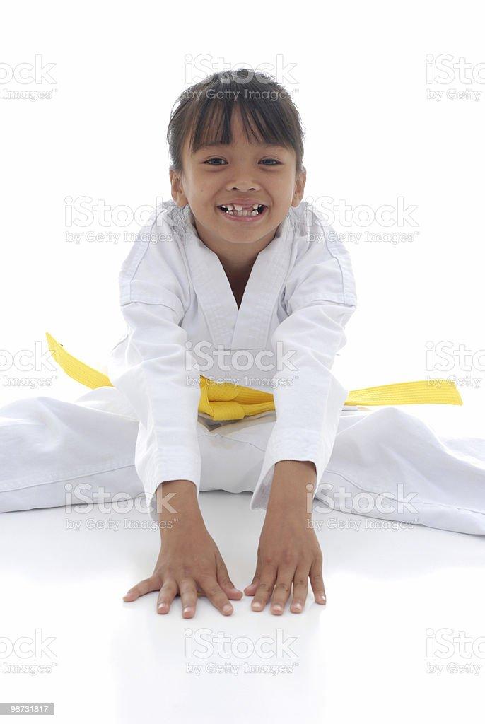 Smiley stretch stock photo