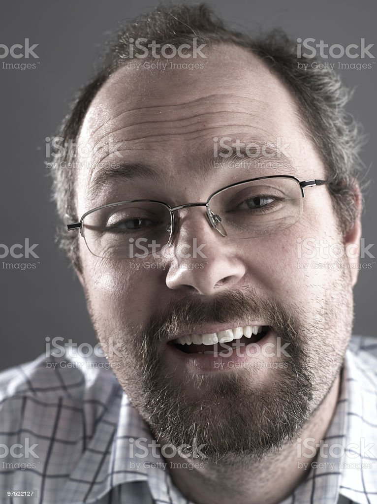 Smiling Adult Portrait royalty-free stock photo