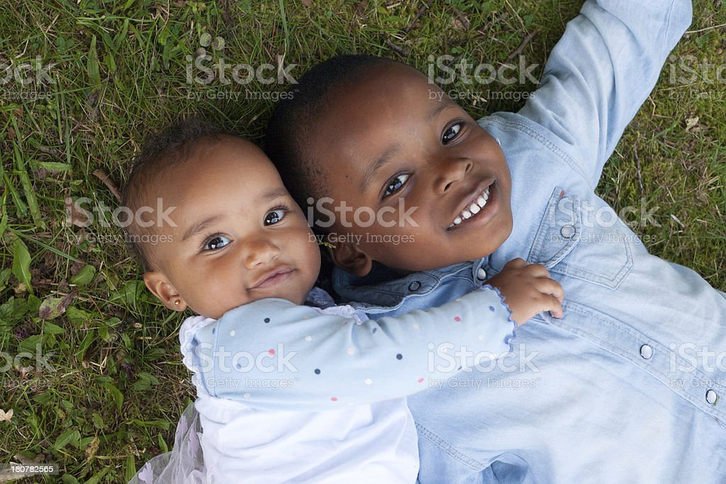 Smiling african children stock photo