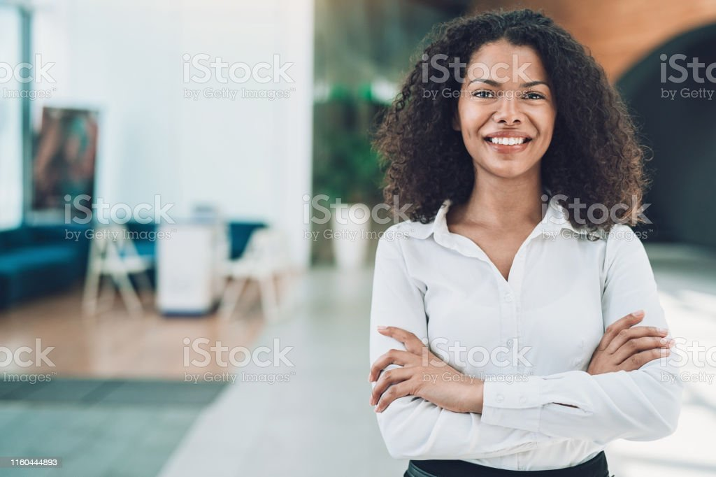 Portrait of a businesswoman looking at camera