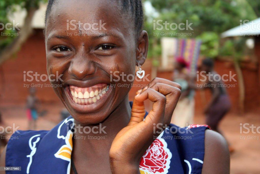 Sorridente Garota africana - foto de acervo