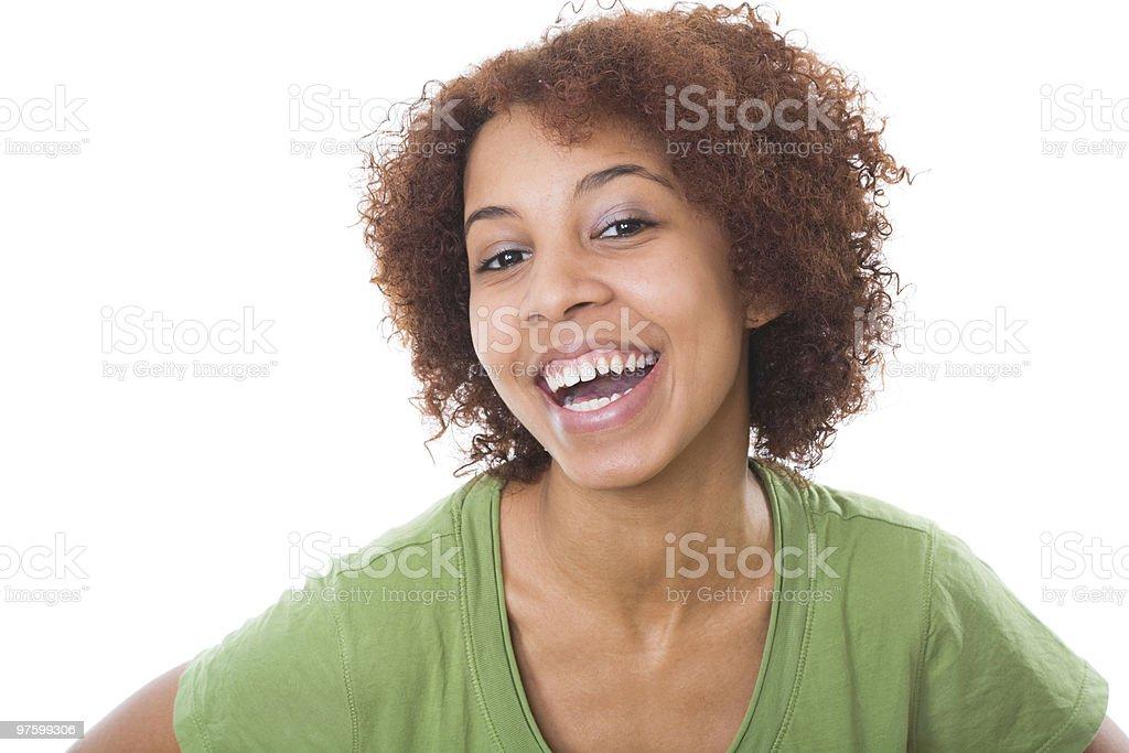 Souriant fille africaine photo libre de droits