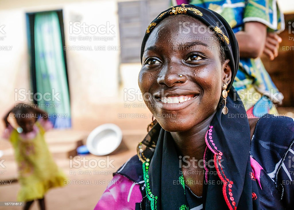 Smiling african woman. stock photo