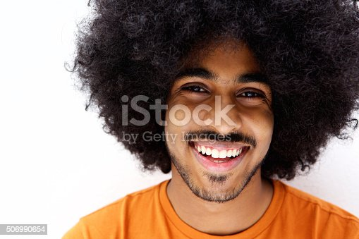 istock Smiling afro man with beard 506990654