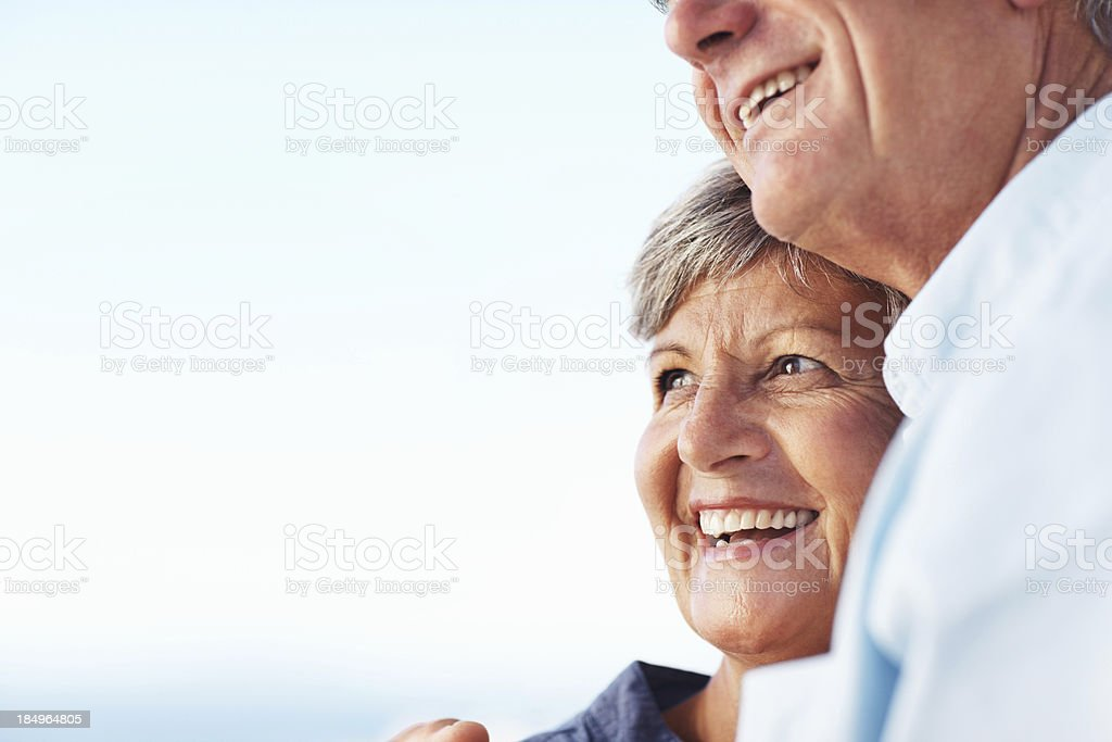 Smiling against the sky royalty-free stock photo