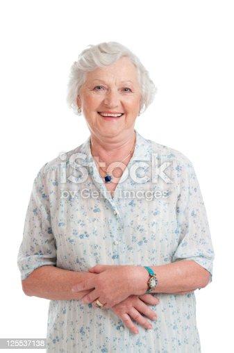 istock Smiling aged senior lady 125537138