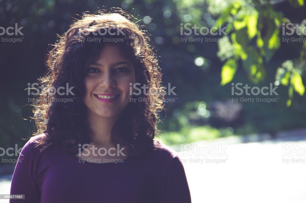 Smiling and beautiful woman, portrait foto de stock royalty-free