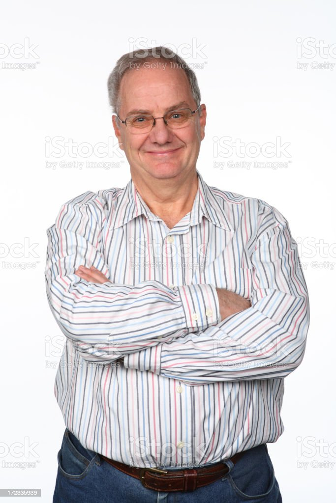 Smiling Arms Folded royalty-free stock photo