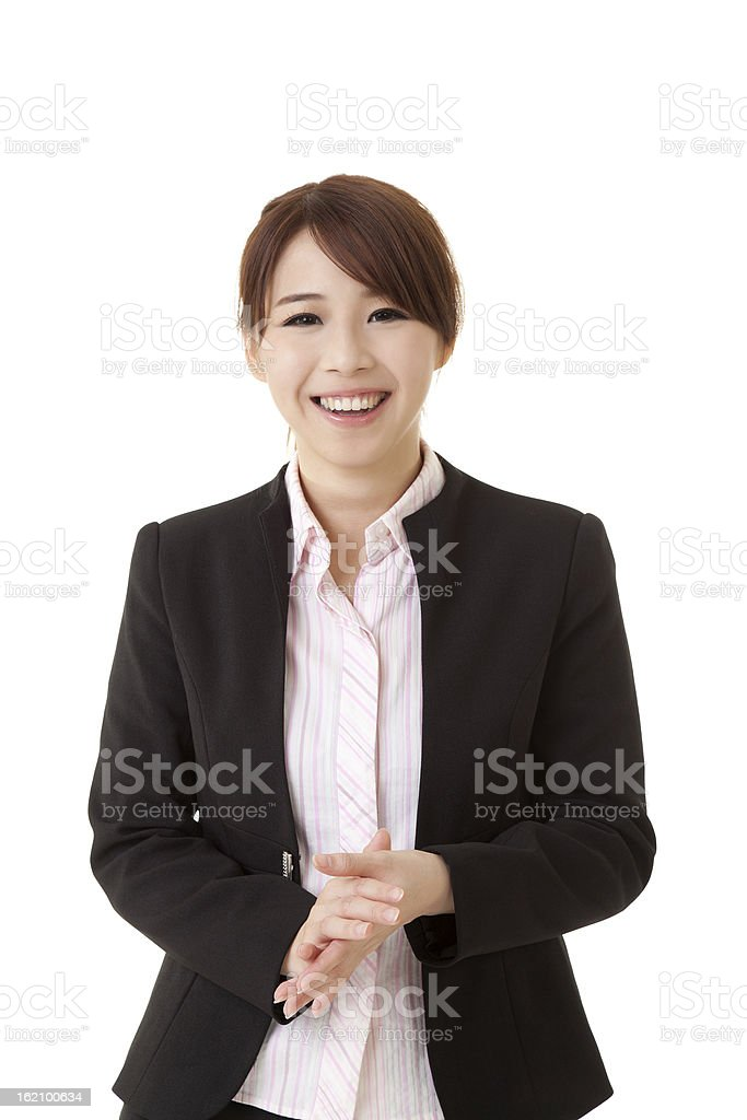 Smiling Asian business woman royalty-free stock photo