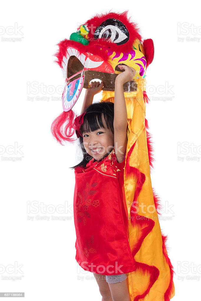 Smiling Asian Chinese little girl with Lion Dance costume royalty-free stock photo  sc 1 st  iStock & Smiling Asian Chinese Little Girl With Lion Dance Costume Stock ...