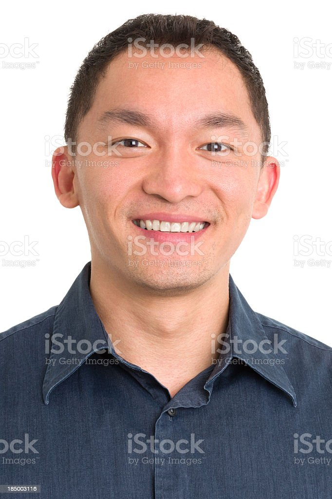 Smiling Asian Man Headshot royalty-free stock photo