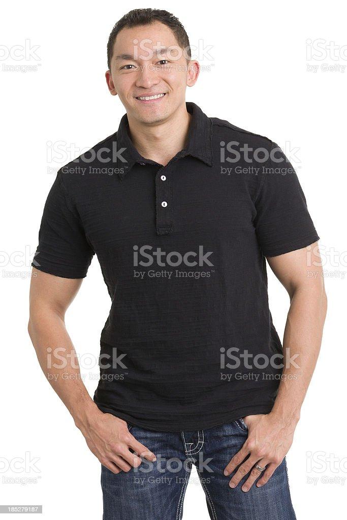 Smiling Asian Man Posing stock photo