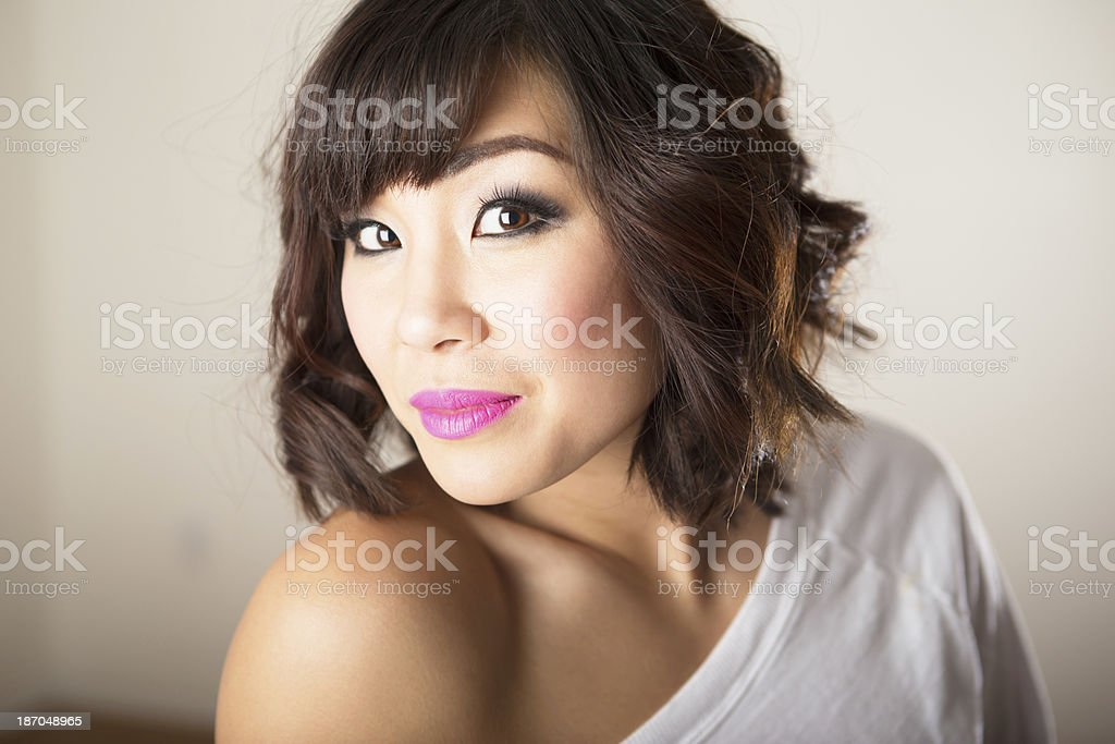 Smiling asian woman portrait royalty-free stock photo