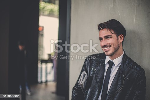 istock Smiling at the people 851843382