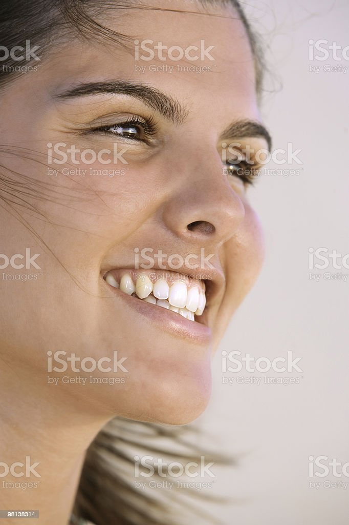 smiling at the sun royalty-free stock photo