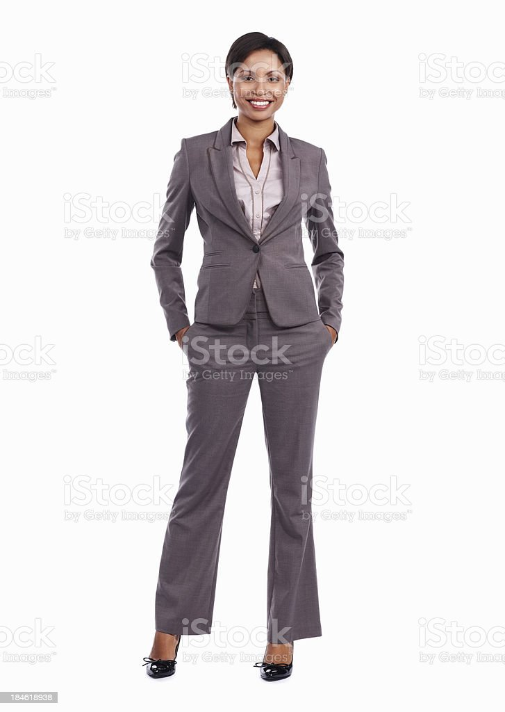 Smiling attractive business woman stock photo