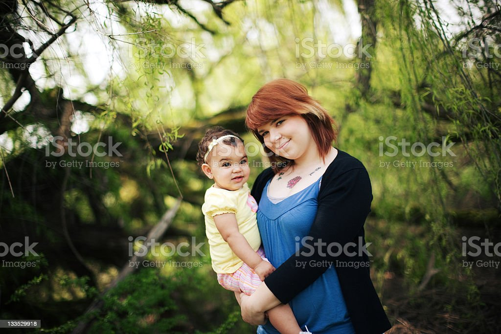 Smiling Aunt and her Little Niece royalty-free stock photo