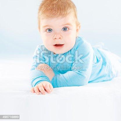 istock Smiling baby boy 495716889