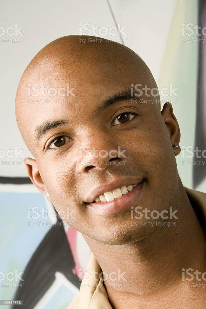 Smiling Bald Man royalty-free stock photo
