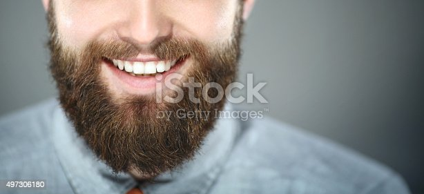 istock Smiling bearded man. 497306180