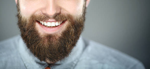 smiling bearded man. - beard stock pictures, royalty-free photos & images