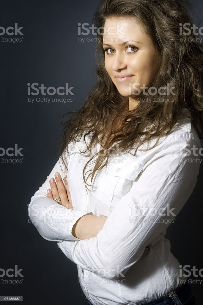 Smiling beautiful businesswoman royalty-free stock photo