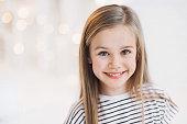 Smiling beautiful girl portrait