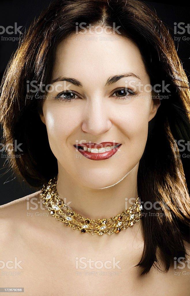 smiling beautiful lady royalty-free stock photo