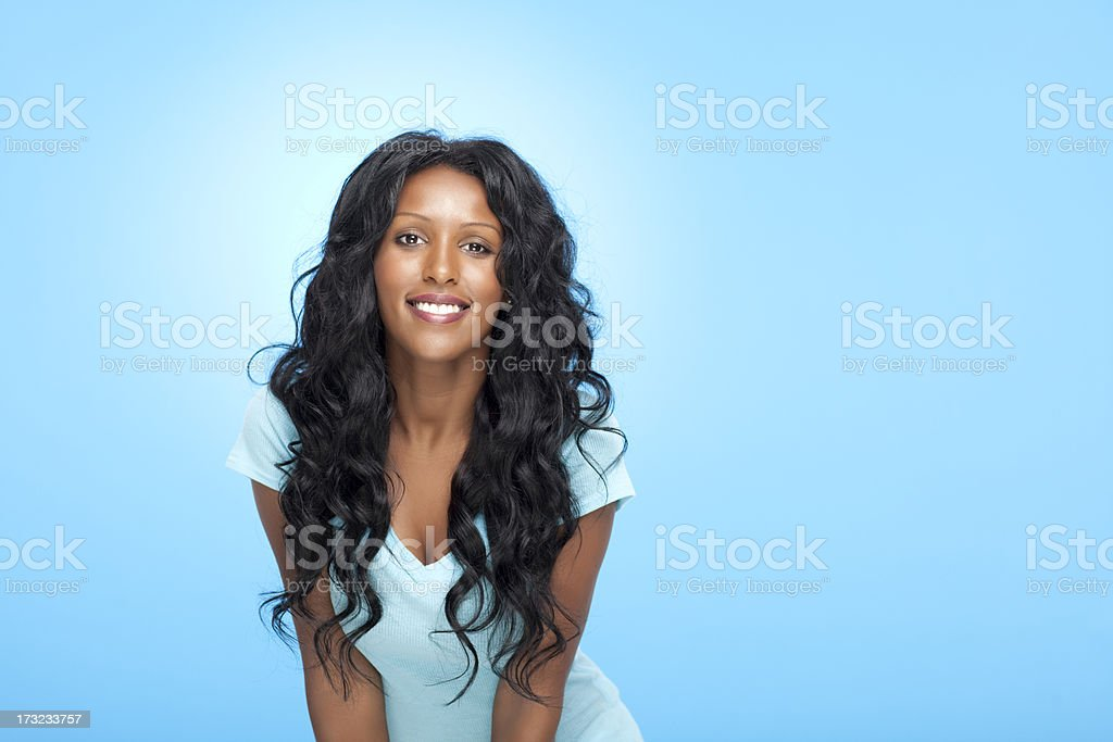 Smiling beautiful woman. stock photo