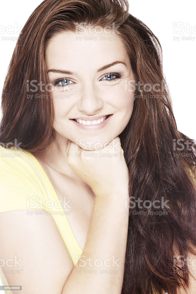 Smiling beautiful woman royalty-free stock photo