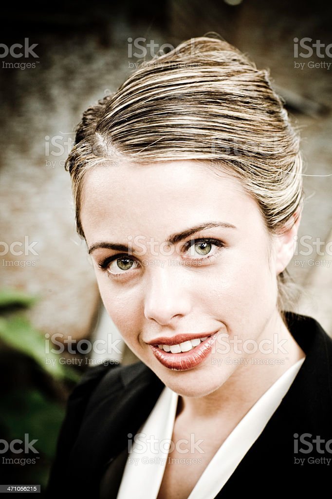 Smiling Beauty, Business Style Portrait stock photo
