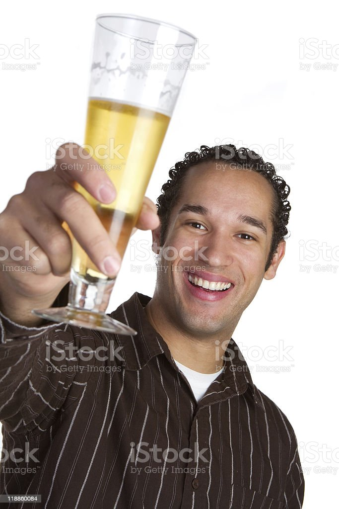 Smiling Beer Man royalty-free stock photo