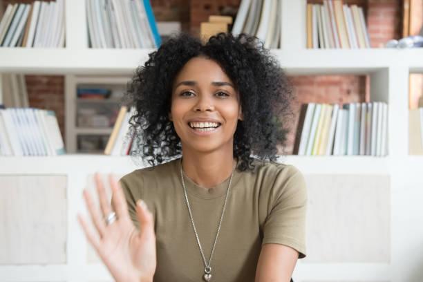 Smiling black woman waving talking on webcam picture id1158676693?b=1&k=6&m=1158676693&s=612x612&w=0&h=on4dbeawt45e3ppcy6lbul6r3xrncnax16x38tzrqgi=