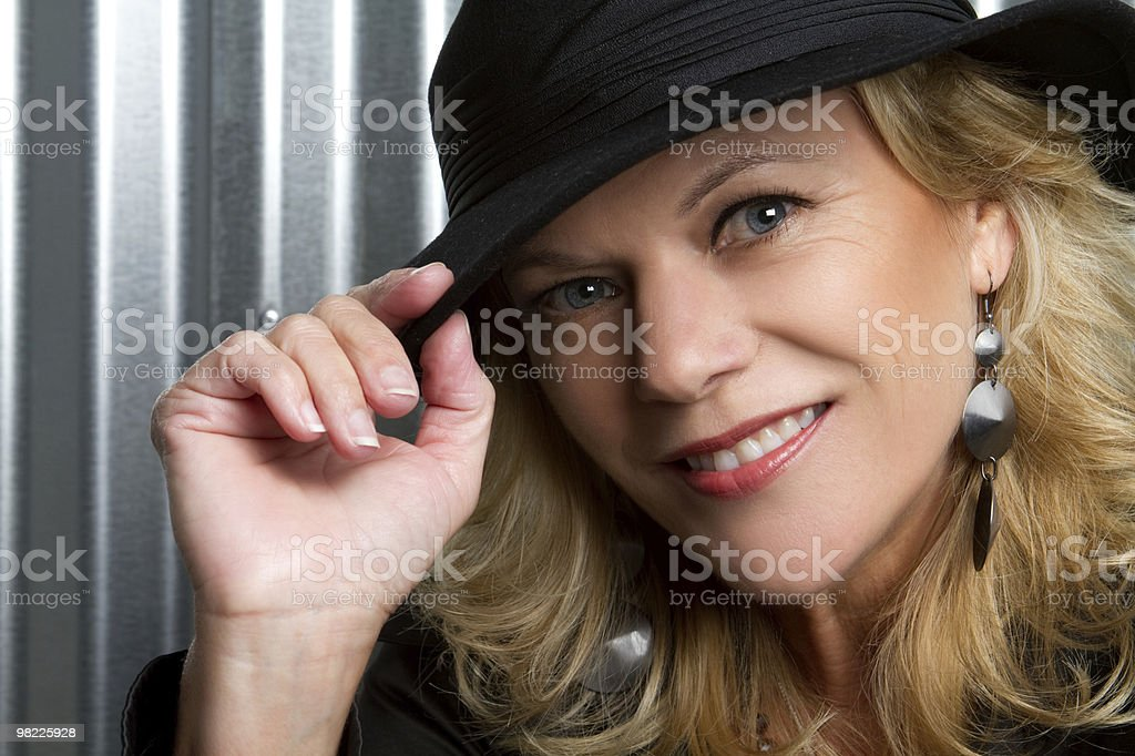 Smiling Blond Model royalty-free stock photo