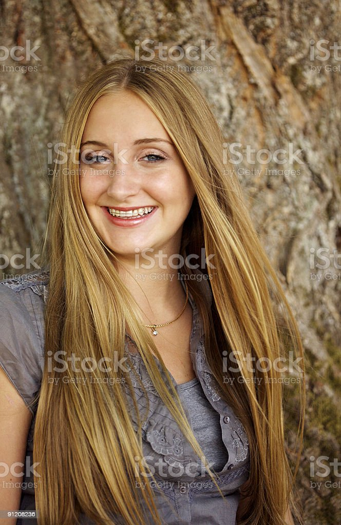 Smiling Blond Portrait royalty-free stock photo